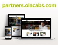Website Design Ola Partner Microsite