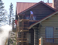 Staining Log Home with Sashco Capture Cascade Finish