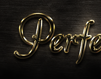 Gold & Glass Text Effect
