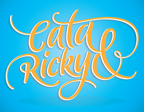 "Lettering ""Cata & Ricky"""