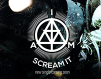 """A.I.M. Scream It!""- Rock group branding & album cover."