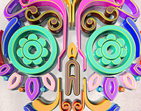 Calavera 3D poster