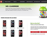 Motorola: Jellybean Trade Up microsite