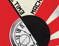 Constructivist Book Cover: The Time Machine