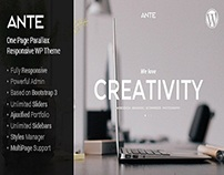 Ante - the ultimate wordpress parallax theme