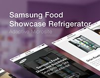Samsung Food Showcase Refrigerator Microsite