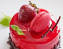 Strawberry sponge-cake