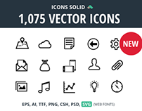 1,075 Vector Icons