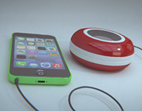 Pocket Speaker (product visualization )