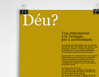 """Poster and flyer: """"God. An introduction to theology for"""