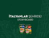 Çabuk Çorba İtalyanlar Şehirde/Storyboard