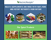 Email Newsletter Design and Code for Nuliv Lifestyle.