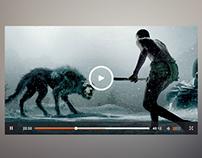 Video Player UI Design