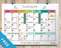 Calendar Monthly Planner - Free Printable
