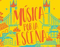 música por la escena | Poster