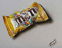A bag of M&M's - drawing