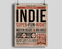 Indie Party Poster #1