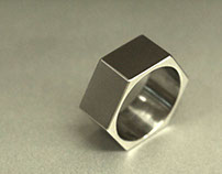 Hex Nut Titanium Ring