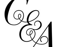 custom monogram doodle.