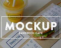 Cafe Food branding mockup