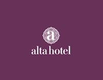 Alta Hotel Website Mockup