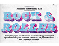 Rock & Roller letterpress kit