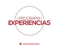 Mockup Davivienda Programa Experiencias