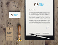 Hello Deer Logo Design