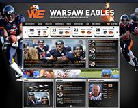 Warsaw Eagles American Football Team website design