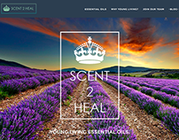 Scent 2 Heal Web Design Project