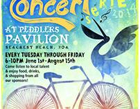 The Grayton Beer Summer Concert Series Poster