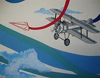 Intervención mural, gráfica ambiental. 2012