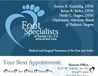 Podiatry Appointment Reminder Cards