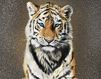 Tiger Art (digital Art Painting)