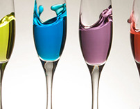 Glass & Colored Liquid Photography
