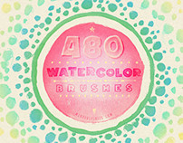 480 Watercolor Brushes Bundle