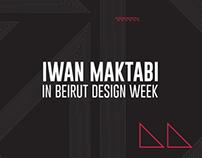 Iwan Maktabi | Beirut Design Week 2014