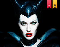 The official Maleficent multi-touch book for Disney