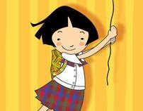 school girls illustration