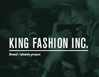 """KING fashion"" branding project"