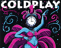 Coldplay Gig Poster