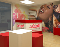Adelphi Shop design,branding and stand 2012