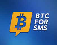 Logo design for Sms BitCoin Service