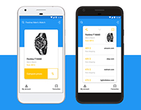 Price Comparing App Concept for Android Phone