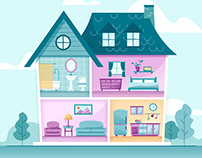 Wayfair House Illustration