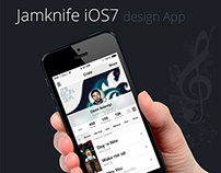 Jamknife Music App Design for iOS7