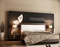 Bed & Bathroom