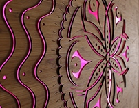 LED Backlit Wall Sculptures