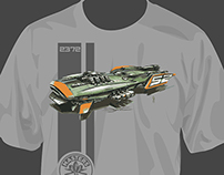 Space ship concept t-shirt