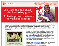 save the children – gifts of joy campaign 2013